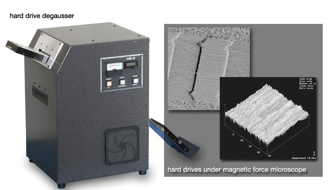 hard drive degausser + hard drives under MFM